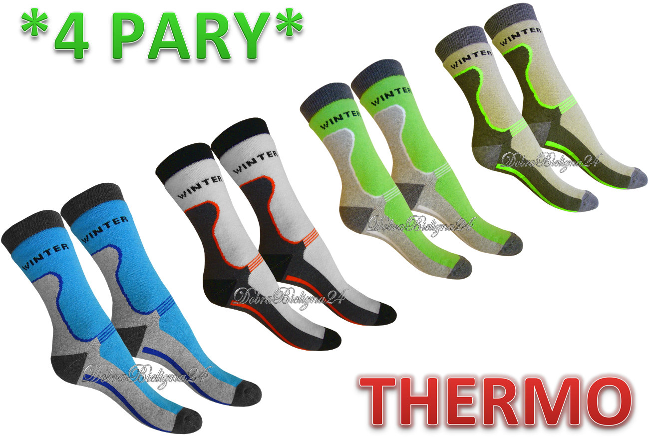 SKARPETY THERMO FROTOWE