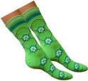 Zielone w Kolorowe Kwiatki